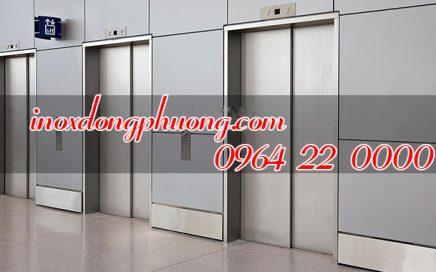 Có nên hay không ốp inox thang máy, ốp inox cửa thang máy hiện đại